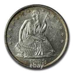 1858-o Liberty Assis Demi-dollar Au-55 Pcgs Sku#226314