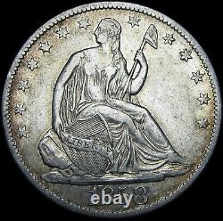 1858-o Seated Liberty Demi-dollar - Type De Pièce Argent Stupéfiant - #j505