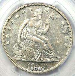 1858-s Assis Liberty Half Dollar 50c Pcgs Xf Détails Rare Date Coin