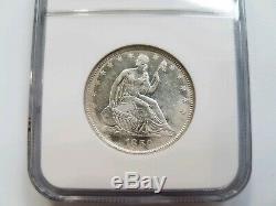 1859 O Ss République Assis Liberté Demi-dollar Ngc Shipwreck Argent Au Trésor Coin