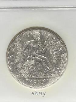 1859-o Assis Liberté Demi-dollar Ngc Effet Naufrage Ss République