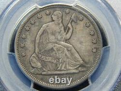 1859-s 50c Seated Liberty Half Dollar Vf-35 Pcgs, Tough Date