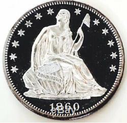 1860 Assis Preuve Liberté Half Dollar Incroyable! Si Rare Et Parfait # J1000