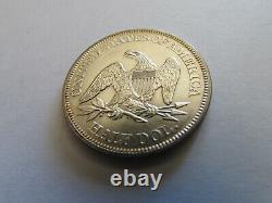 1861 Guerre Civile En Position Assise Liberté Demi-dollar 50 Cents Silver Coin Philadelphie 50c