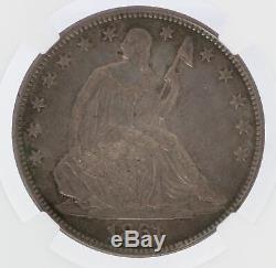 1861 Liberté Assis Demi-dollar Csa Rallumage Ngc Ms64 B-8002 Coin Jb583
