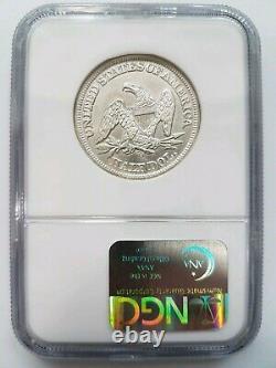 1861 O 50c Ngc Ss Republic Shipwreck Seated Liberty Silver Half Dollar Cs Issue