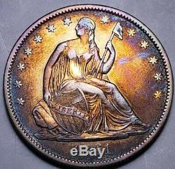 1861 O Assis Liberté Demi Dollar / Très Dur Ce Nice. Haut Grade. 158