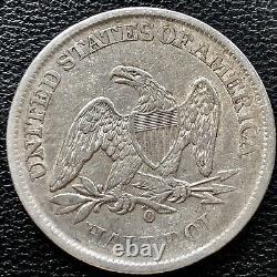 1861 O Liberté Assise Demi-dollar Csa Obverse Wb-103 Confederate #15258