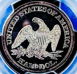 1861 Pr61 Seated Liberty Half Dollar Rev Dcam/ Pop 12 Nice Mise À Niveau