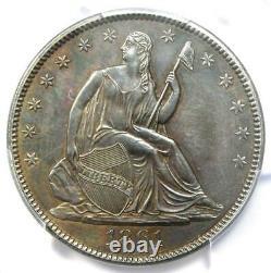 1861 Seated Liberty Half Dollar 50c Certified Pcgs Au Details CIVIL War Date