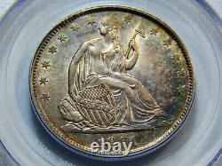 1861-o 50c Assis Liberté Demi-dollar Au-58 Pcgs, Nice Couleur! Vous Êtes Mieux