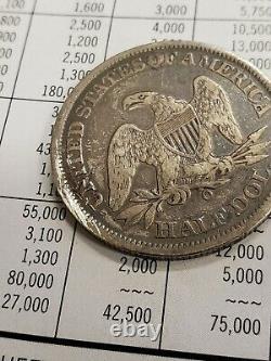 1861-o 50c Csa Avers Assis Liberté Demi-dollar Fin Det Confederate! Lot # T923