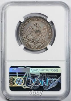 1861-o 50c Speared Olive Seated Liberty Half Dollar Ngc Au Détails Wb 104