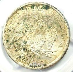 1861-o Assis Liberté Demi-dollar 50c Coin Pcgs Ongecirculeerd Détails Unc (ms)