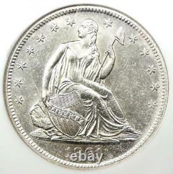 1861-o Assis Liberty Half Dollar 50c Coin Ngc Unc B (ms) Ss Naufrage