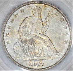 1861-o Assis Liberty Half Dollar Pcgs Au-53 Date Bisected Wb-103 C. S. A. Issue