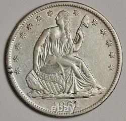 1861-o Assis Liberty Half. L'ua. 151946