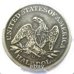 1861-o Csa Avers Assis Liberté Demi-dollar 50c Fs-401 Pcgs Vf25 $ 2000 Valeur