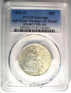 1861-o Csa Avers Assis Liberté Demi-dollar 50c Fs-401 Wb-102 Pcgs Au Détail