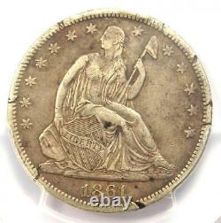 1861-o Csa Averse Seated Liberty Half Dollar 50c Fs-401 Wb-102 Pcgs Vf Détail