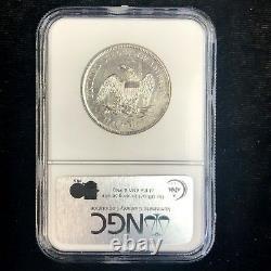 1861-o Liberté Assis Demi-dollar Ss République Naufrage Ngc