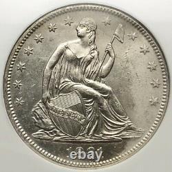 1861-o Liberté Assise Demi-dollar 50c Confederate W-13 Ss République Épave