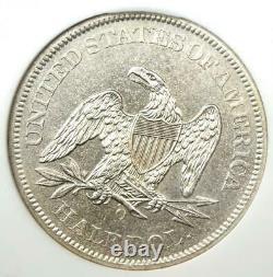 1861-o Liberté Assise Demi-dollar 50c. Ngc Ss Navigateur Au / Unc Détail