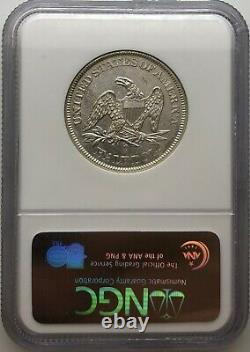 1861-o Liberté Assise Demi-dollar Confederate W-13 Ss République Épave (b) Unc
