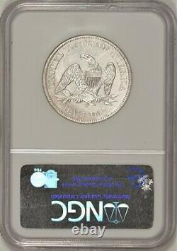 1861-o Seated Liberty Half Dollar W-07 Ngc Shipwreck! République Ss
