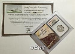 1861-o Ss W-04a République Shipwreck Effet Argent Assis Liberté Demi-dollar -221