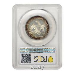 1862 50c Argent Liberté Assis Pcgs Pr62cam Pq Approuvé Demi Toned Preuve Dollar
