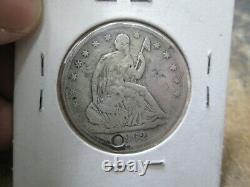 1862 S Assis Liberté Demi-dollar En Argent Transformé En Un Chien Tag Guerre Civile Csa