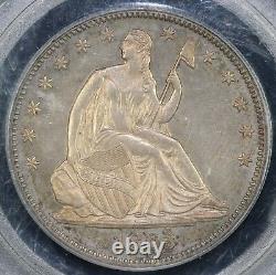 1863 50c Proof Seated Liberty Demi-dollar Pcgs Pr 64