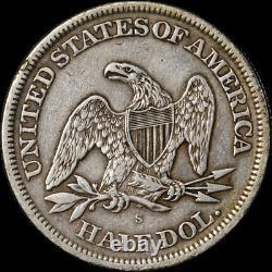1865-s Assis Half Dollar Choix Xf Grand Œil Appel De Nice Grève