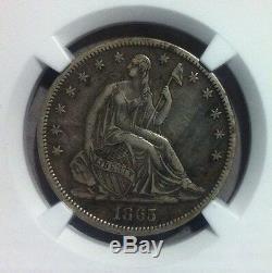 1865-s Assis Liberté Demi-dollar En Argent Ngc Xf 45