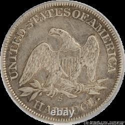 1865-s Seated Liberty Demi-dollar Pcgs Xf45