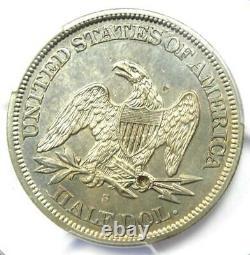 1865-s Seated Liberty Half Dollar 50c Certifié Pcgs Au Détails Rare Date