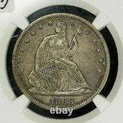 1866 Liberty Assis Demi-dollar Avec Devise Ngc Xf40 Amende Supplémentaire