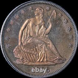 1866 Siège De Demi-dollar Devise Cac Sticker Pcgs Pr64 Superbe Appel Aux Yeux