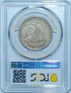 1867 S Pcgs Vf35 Seated Liberty Demi-dollar