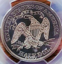 1868 Pf61 Seated Liberty Half Dollar Cameo/ Proof Undergraded