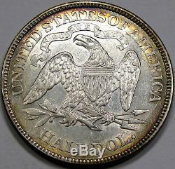 1869 Dollar Assis Moitié Liberté Superbe Au-unc. Super Flashy Avec Ton Album De Nice