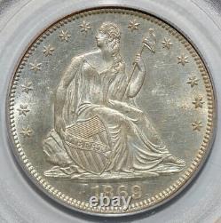 1869 La Moitié Liberté Assis Dollar Pcgs Ms61 Ogh