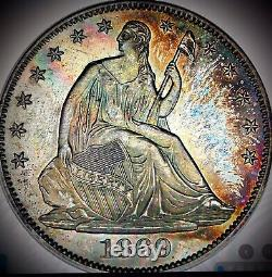 1869 Liberté Assise Demi-dollar Proof62 Pcgs