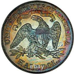 1869 Pf62 Assis Liberté Demi-dollar Preuve / Rainbow Tonning