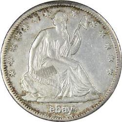 1869 Seated Liberty Half Dollar Xf Ef Extremely Fine Details 90% Argent 50c Pièce