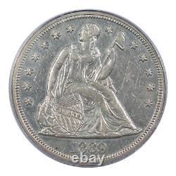 1869 Sièges Liberty Dollar Pcgs Au50
