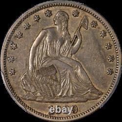 1869-p Assis Demi-dollar Pcgs Au50 Nice Eye Appeal Forte Grève