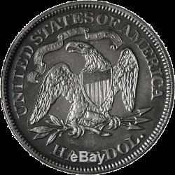1870 Assis Demi-dollar De Nice Preuve De Nice Miroirs De Nice Luster De Nice Grève
