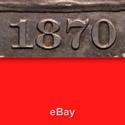 1870 Pcgs Pr64 Seulement 26 Finer Incl. Camées Rare Dans Proof Demi-dollar Assis 50c